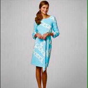 Lilly Pulitzer XS Shorely Blue Jonah Ponte Dress